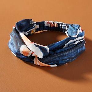 NWT Anthropologie  navy floral headband